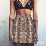 SNAKE Skinny High Waist Skirt