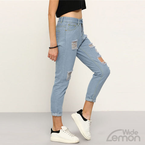 'AZUL' Skinny Ripped Jeans