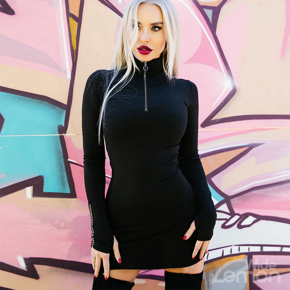 MAMBA Turtleneck Skinny Dress