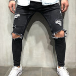 URBAN Black Ripped Skinny Jeans