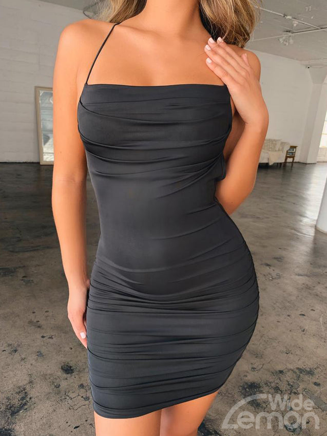 MAMBA Backless Skinny Dress