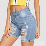 AZUL Ripped Denim Shorts