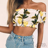LEMON Off Shoulders Top