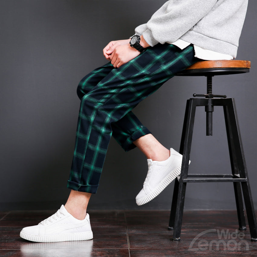 Green Checkered Trousers