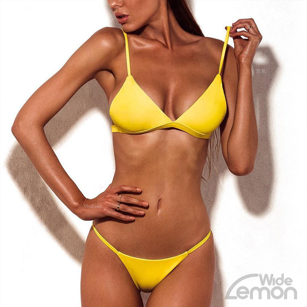 'LEMON' Summer Yellow Bikini Set
