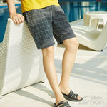 BLACK Checkered Short Trousers