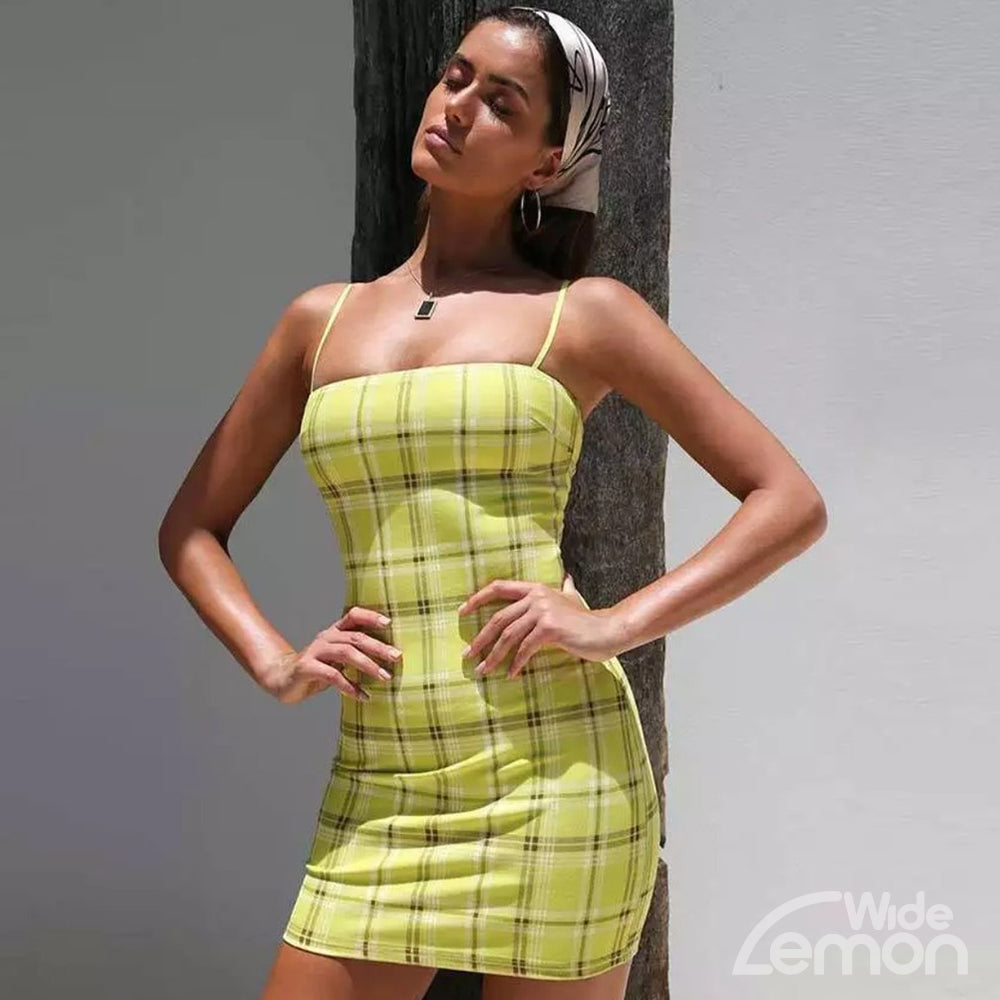 LEMON Chequered Dress