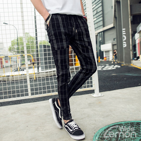 Black Checkered Trousers