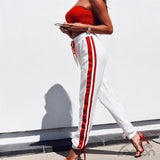 'BLANC' Side Stripe Pants