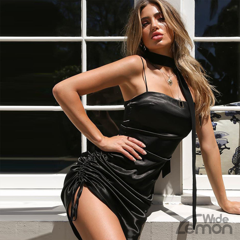 Black 'MAMBA' Short Dress
