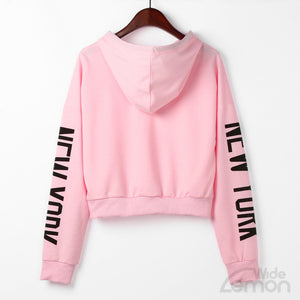 Pink 'New York' Women Sweatshirt