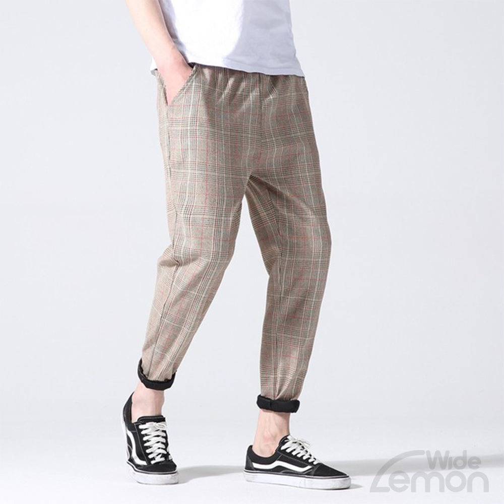 CHAMPAGNE Checkered Trousers