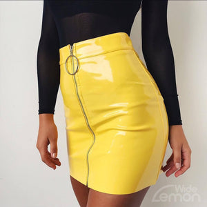 LEMON Glossy Skirt