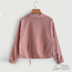 Short Pink Button Jacket