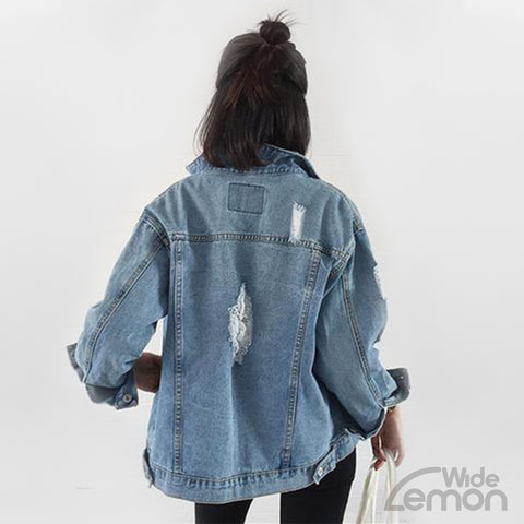 Women Blue Denim Jacket