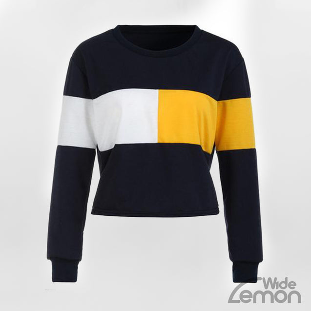 Large Sweatshirt With Colorful Lines