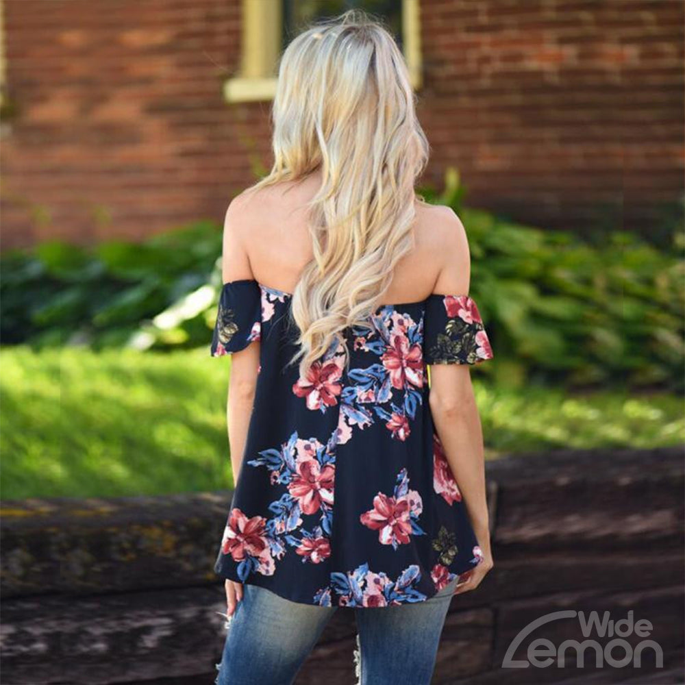 Floral Off The Shoulder T-Shirt