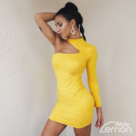 LEMON One Shoulder Dress