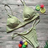 Green Summer Bikini Set