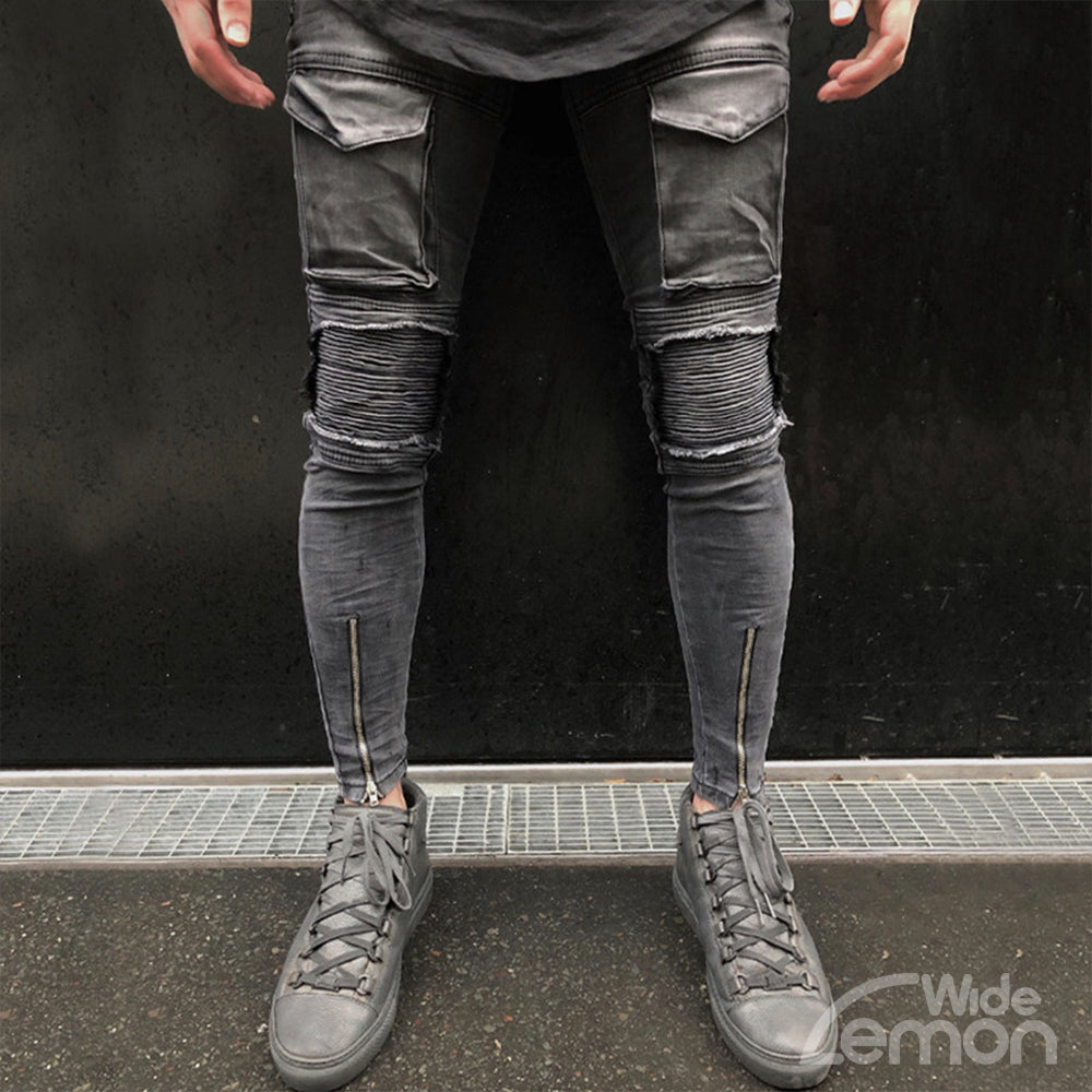 RIPPED Grey Skinny Jeans