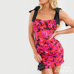 ROSES Flower Short Dress