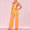 LEMON V-Ruched Waist Sleeveless Jumpsuit