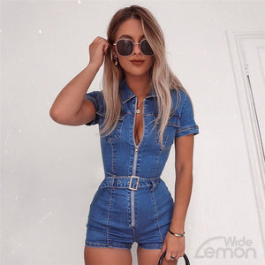 AZUL Zipper Jumpsuit