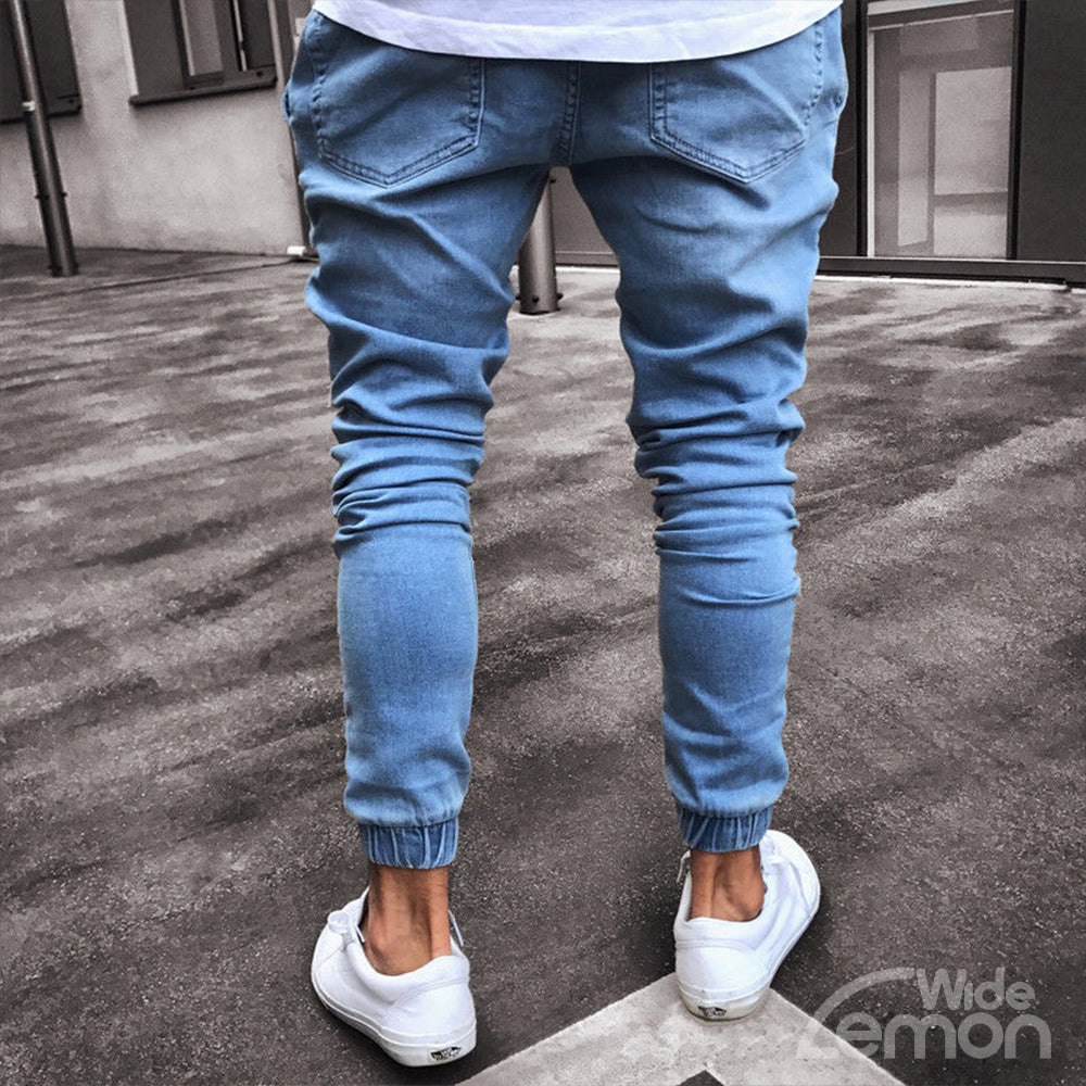 Blue Denim Joggers