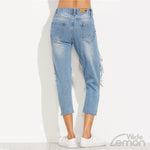 'AZUL' Ripped Jeans Big Holes