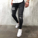 CHESS Black Ripped Jeans