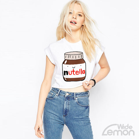 'Nutella' Print Top T-Shirt
