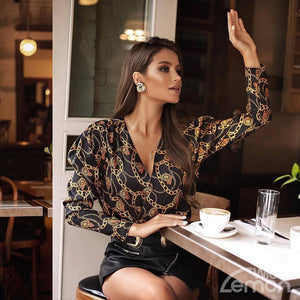 VOGUE V-Neck Blouse
