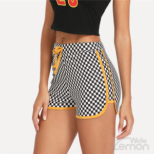 DOMINO Yellow Lines Shorts