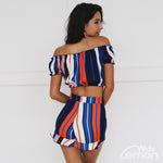 COLORFUL Striped Two Piece Set