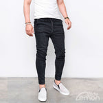 Black Jogger Elastic Pants
