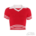 Red Knitted T-Shirt