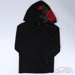 Floral Black Hooded