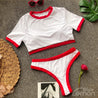 BLANC Sport Bikini Set With Red
