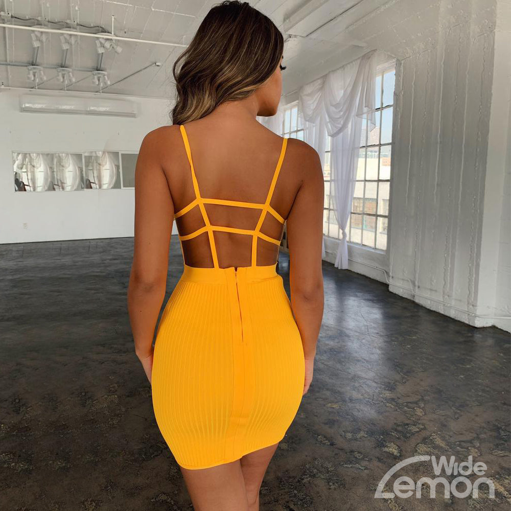 LEMON Party Skinny Dress