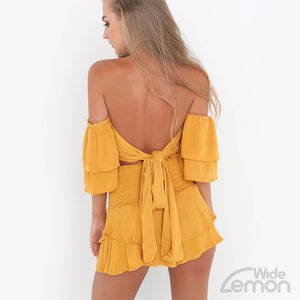 LEMON Top & Skirt Two Piece Set