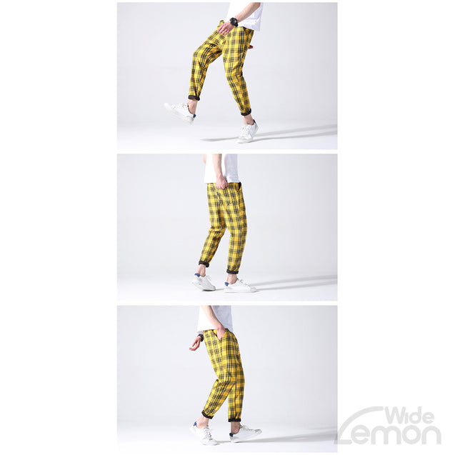 LEMON Checkered Trousers