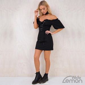 Black Off Shoulders Dress