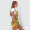 LEMON Checkered Jumpsuit