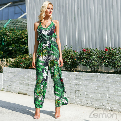 'SELVA' Green Jumpsuit