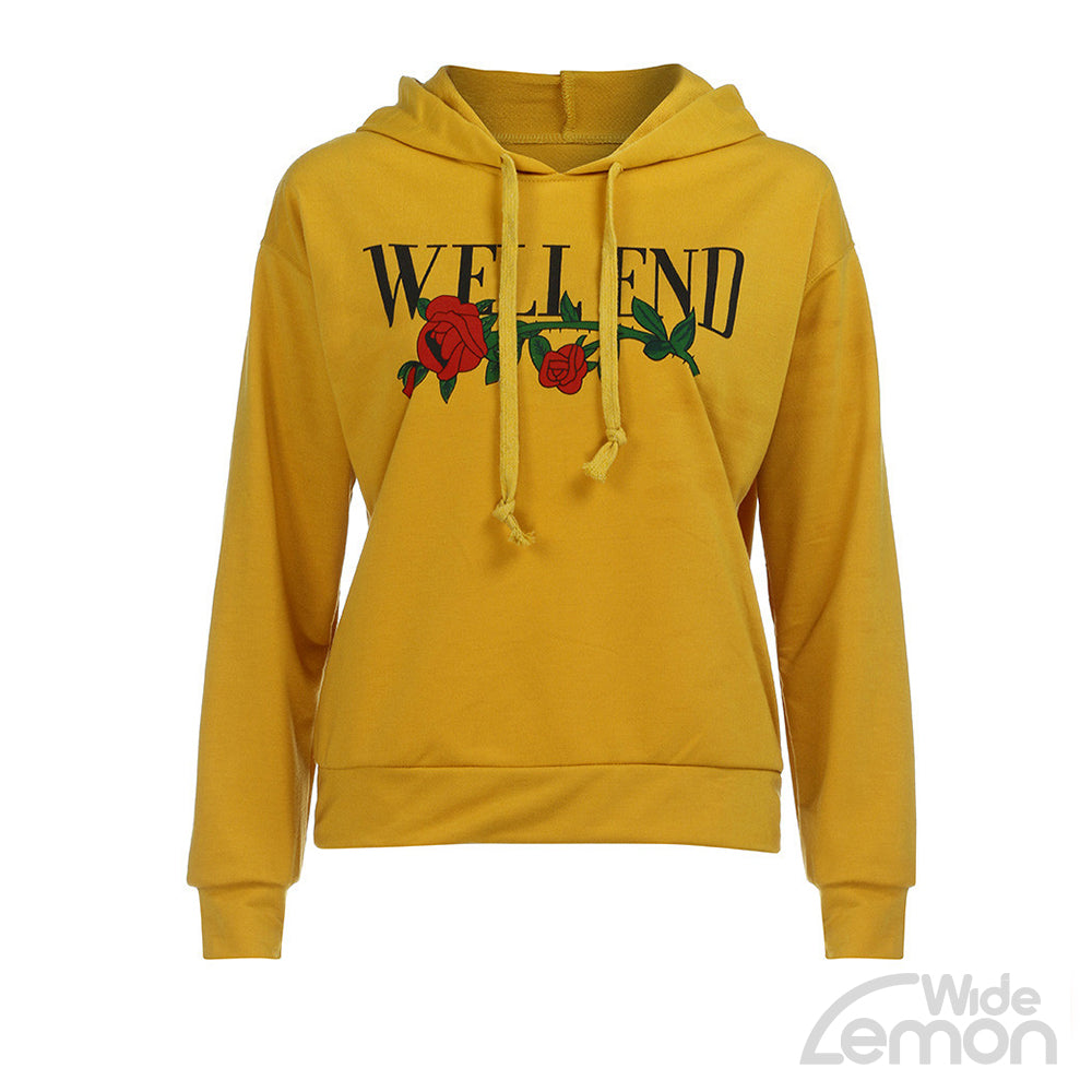 Yellow Letter Print Sweatshirt