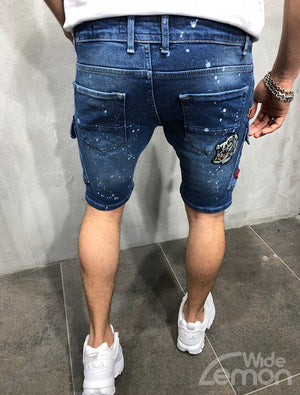 NO1 Ripped Denim Shorts