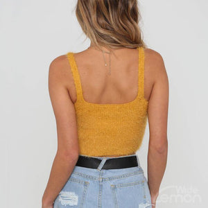LEMON Knitted Crop Top