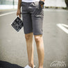 Grey Striped Short Trousers