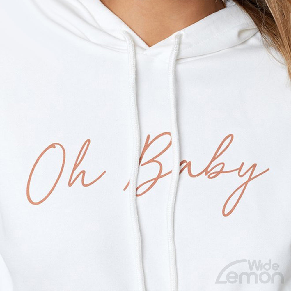 'Oh BABY' White Hoodie