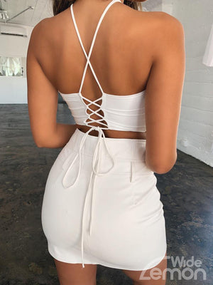 SHELL White Crop Top